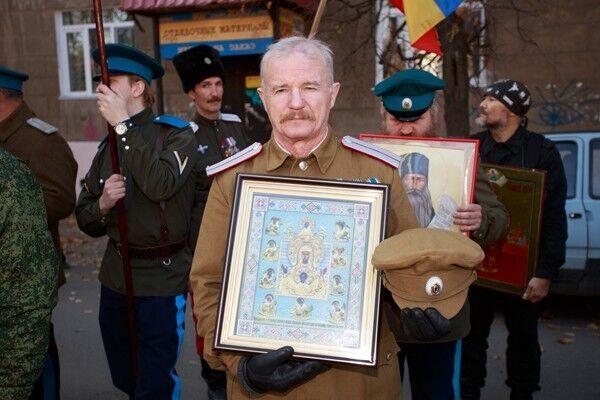 """Появились фото российских казаков, зигующих под лозунгом """"Православие или смерть!"""""""