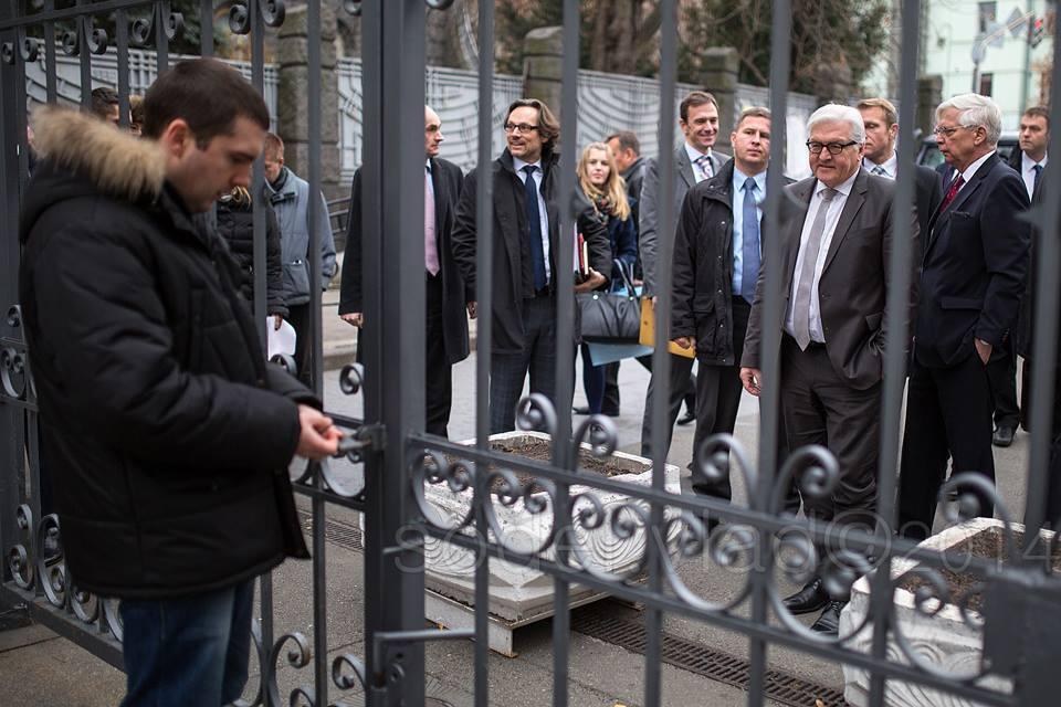 Охорона на Банковій осоромилася перед главою МЗС Німеччини. Фотофакт