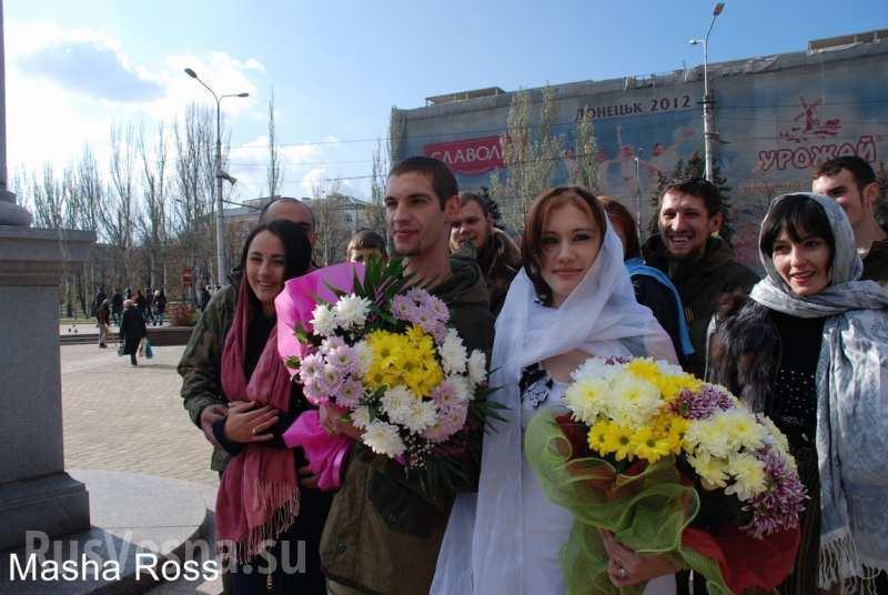 Появились видео и новые фото венчания террориста и невесты с пистолетом