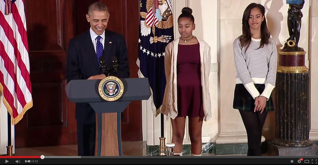 Obama Girls Are Offstage But Crucial
