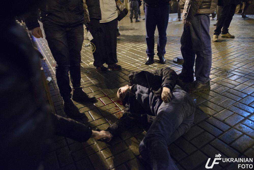 В Киеве произошла кровавая драка украинских и французских фанатов: фото пострадавших