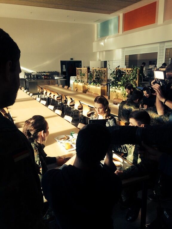 Ольга Фреймут провела инспекцию на базе подготовки солдат НАТО