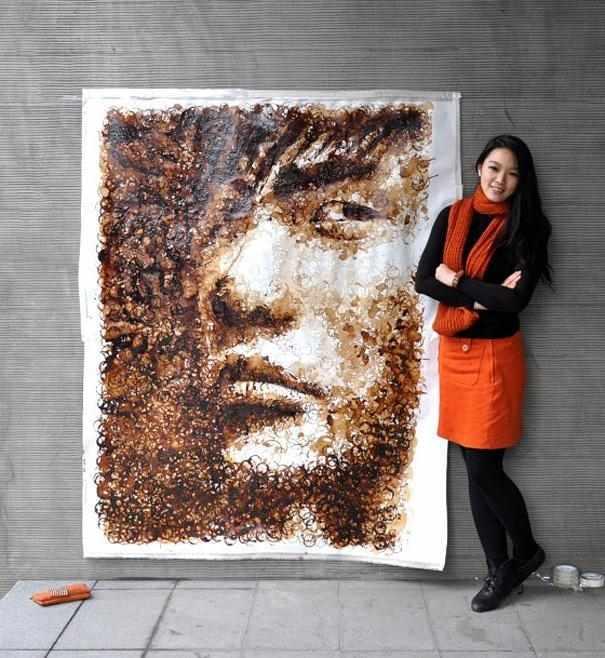 Китаянка намалювала портрет Адель з 1500 свічок
