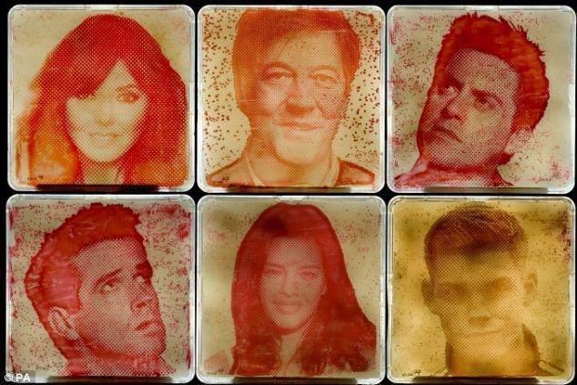 Американець малює портрети знаменитостей з бактерій, що живуть у них пахвами
