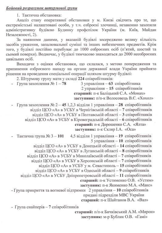 "Москаль розкрив план ""зачистки"" Майдану. Документи"