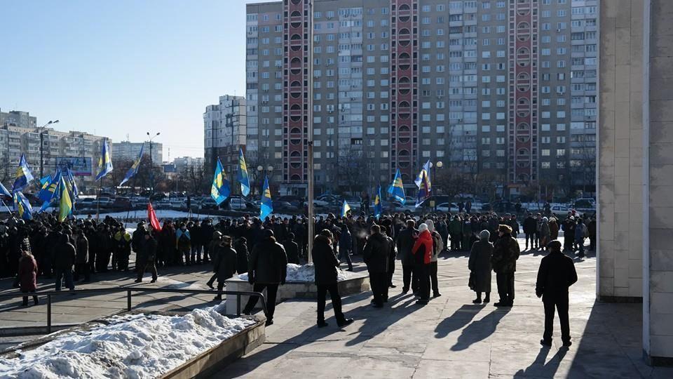 Свободівці на Троєщині в Києві вимагають створення Народної ради