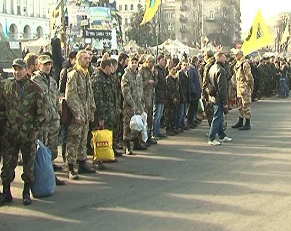 Самооборона Майдана отправилась на военные учения