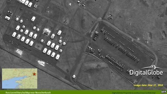 НАТО показало спутниковые фотографии войск РФ на украинской границе