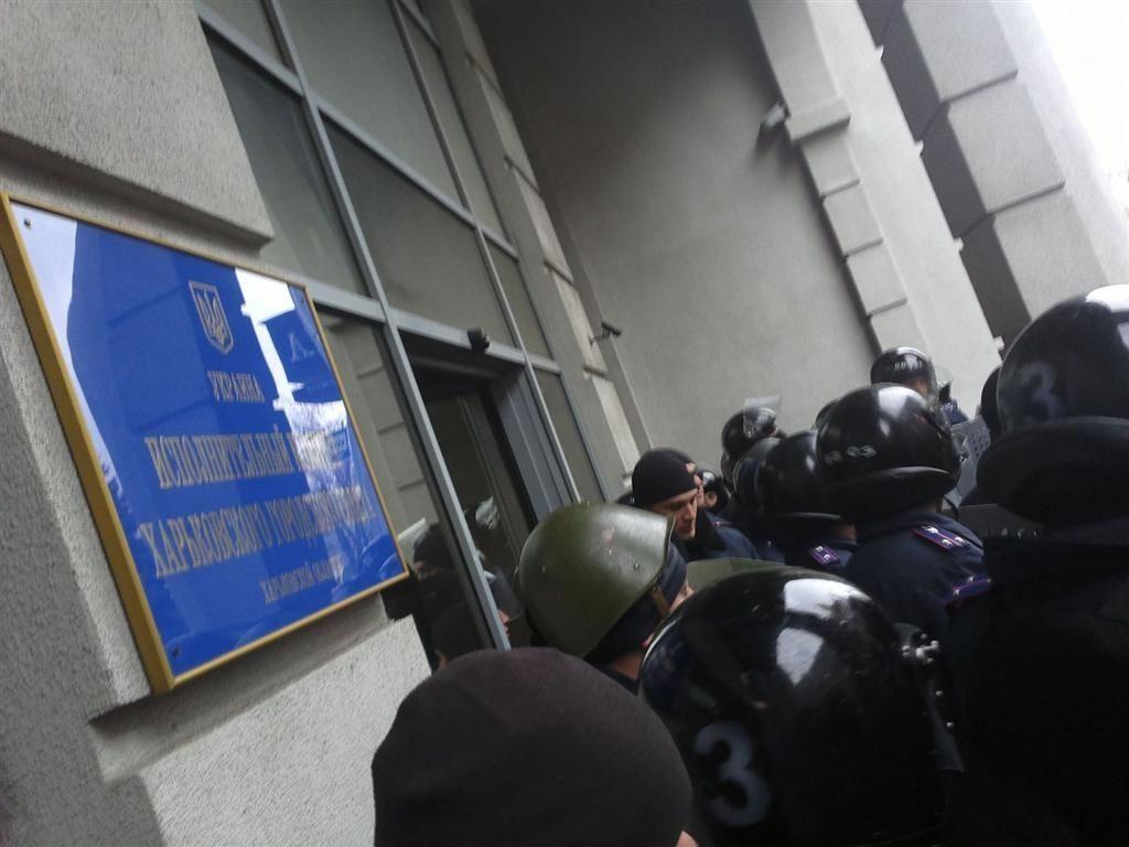 В Харькове сепаратисты захватили мэрию