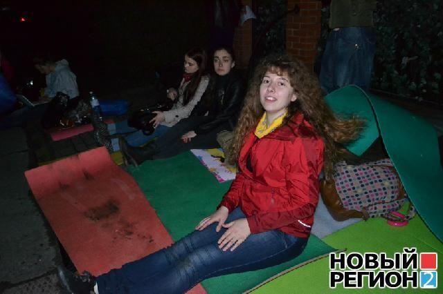 Под домом Тимошенко устроили ночной пикет