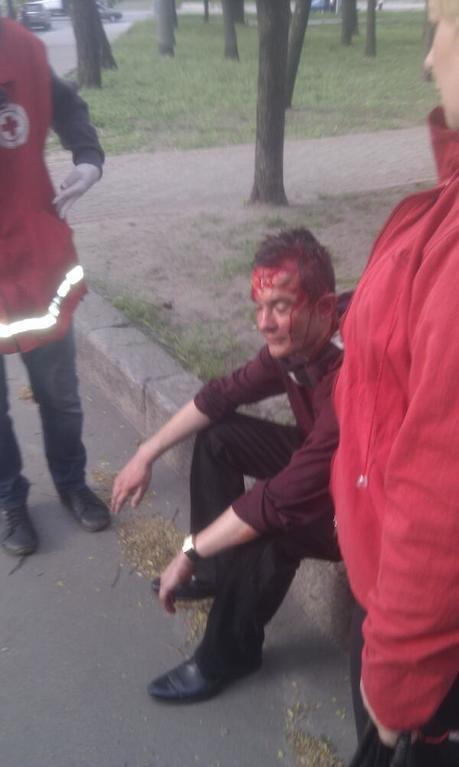 Нападение на шествие за единую Украину в Харькове: пострадали 14 человек