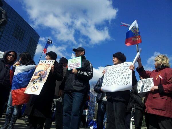 Полтысячи сепаратистов митингуют в Донецке