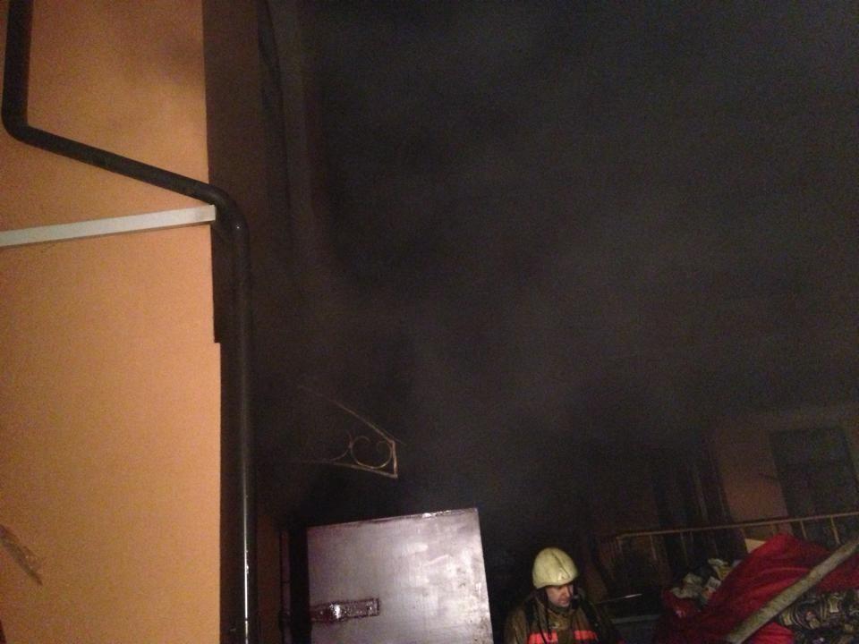 В Киеве горел офис КПУ