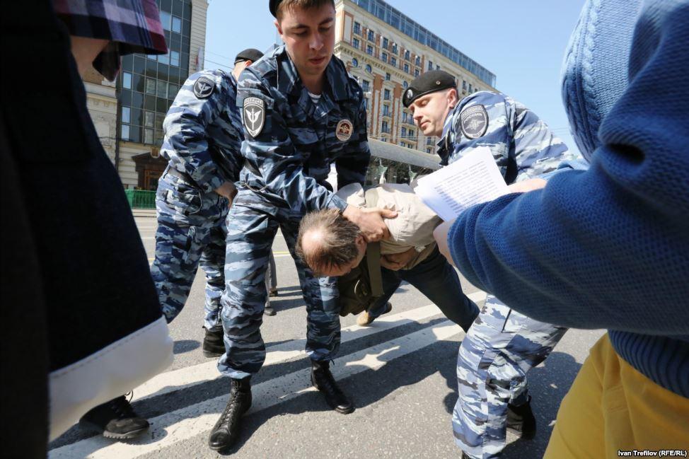 В Москве разогнали антивоенную акцию в поддержку Украины: есть задержанные