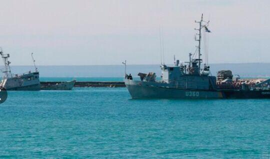 ВМСУ: в аннексированном Крыму остаются украинские суда и корабли