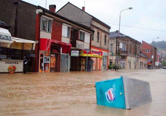 В Сербии, Боснии и Хорватии объявлено ЧП из-за рекордного наводнения