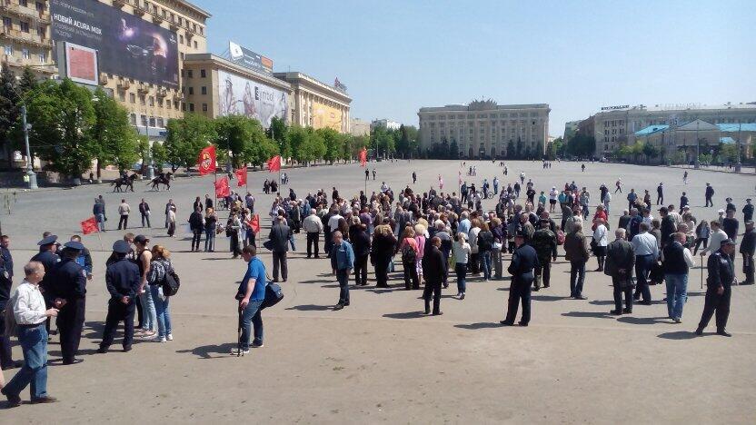 200 харківських сепаратистів не злякалися суду і вийшли на мітинг