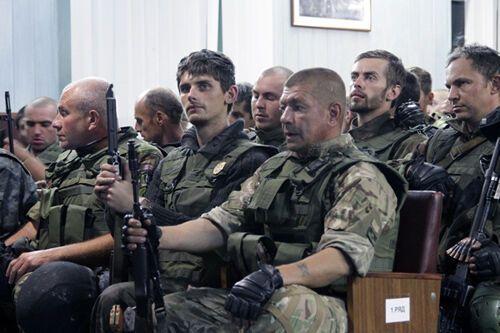 Первый батальон Нацгвардии вернулся с Донбасса после АТО