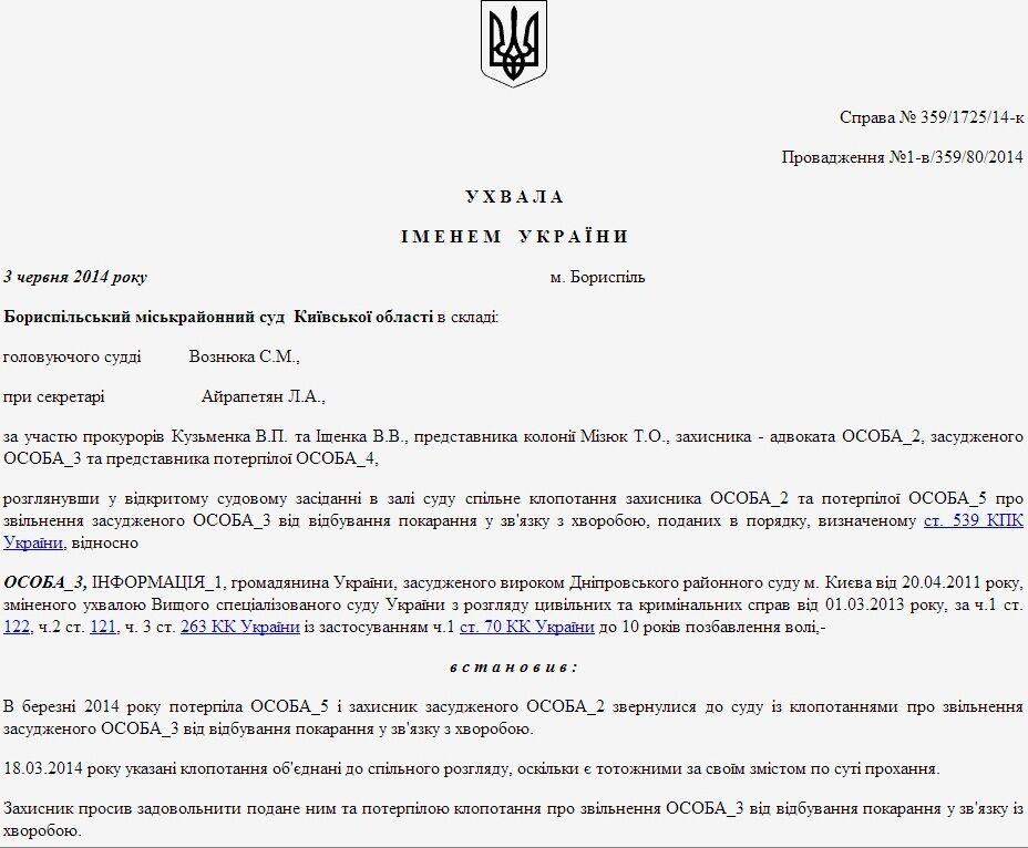 Лозинского освободил судья, который судил автомайдановцев