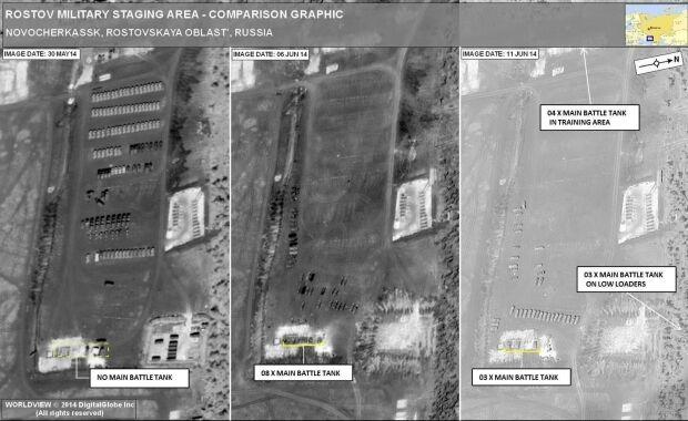 НАТО показало докази вторгнення танків РФ в Україні