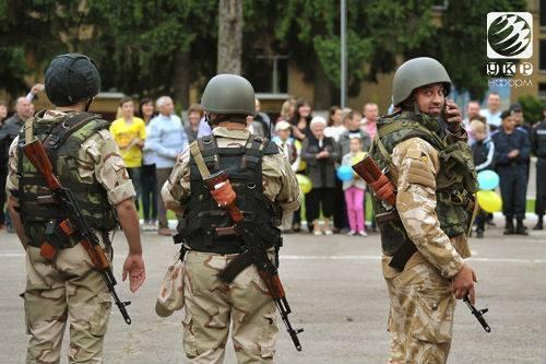 Бойцы Нацгвардии вернулись из зоны АТО во Львов