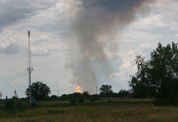 На Полтавщине взорвался газопровод. Фото- и видеофакт