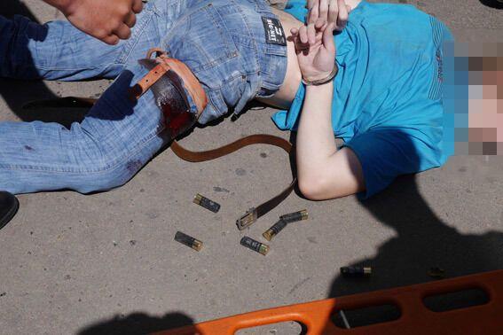 Сумчанин совершил вооруженное нападение на работников милиции