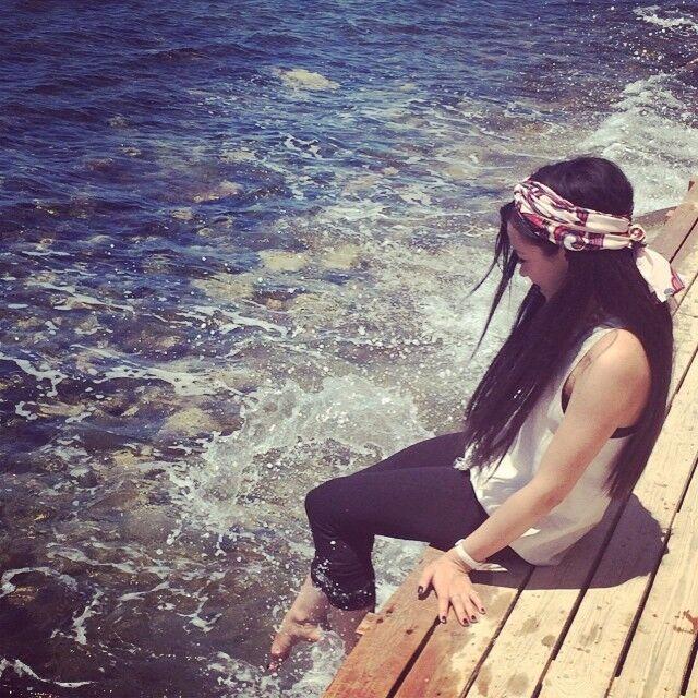 Яремчук отдохнула на пляже в Греции