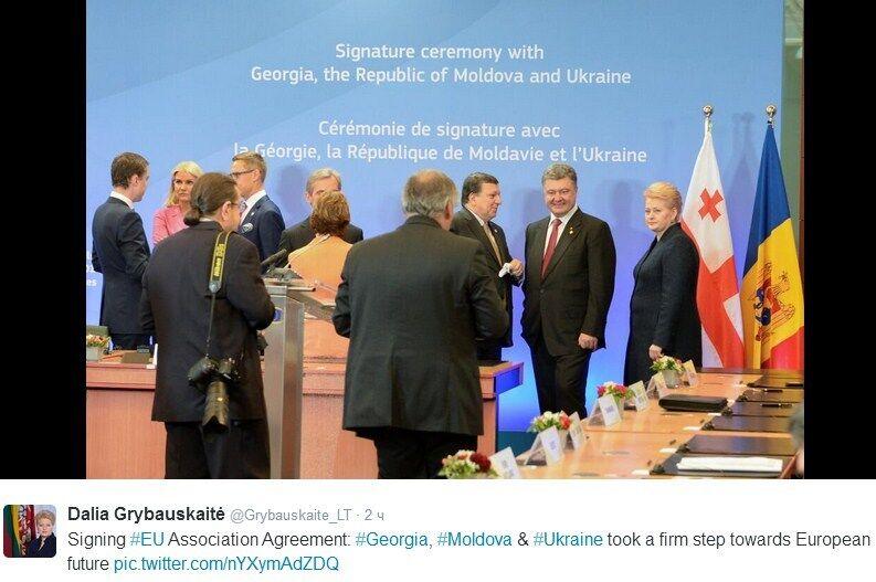 В ЕС назвали исторической чернильную ручку Петра Порошенко