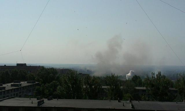 У Слов'янську знову чути потужні вибухи