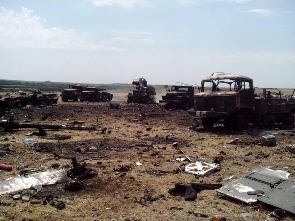 В сети появились фото уничтоженного террористами лагеря АТО под Зеленопольем