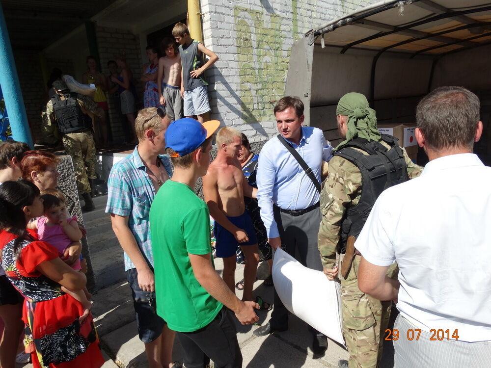 Адресная помощь от Партии развития поступила в Новоазовск и Седово