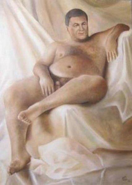 Автор голых Януковича и Путина пожаловалась на невостребованность портретов