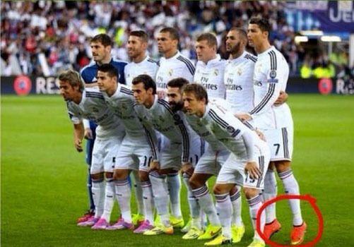 Во время Суперкубка Роналду решил обмануть фотографов