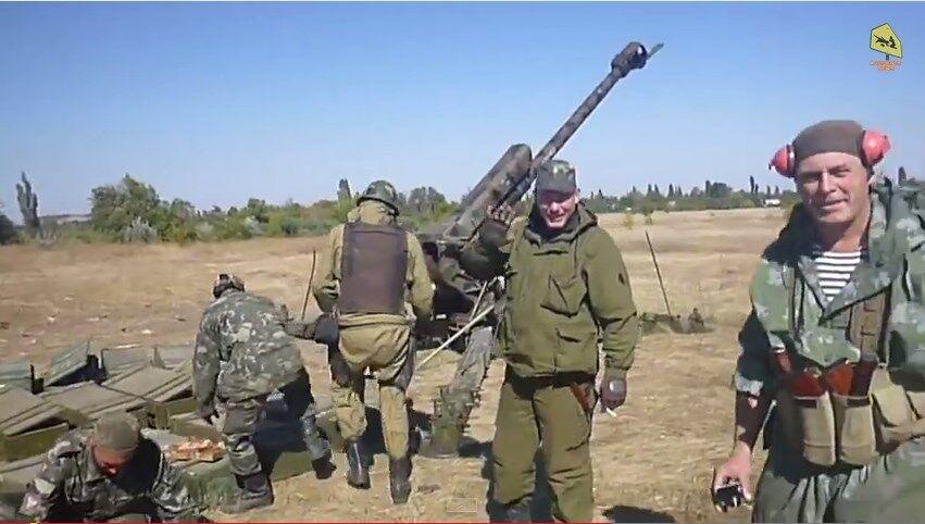 """Российские наемники """"ЛНР"""" сняли на видео артобстрел позиций украинских военных"""