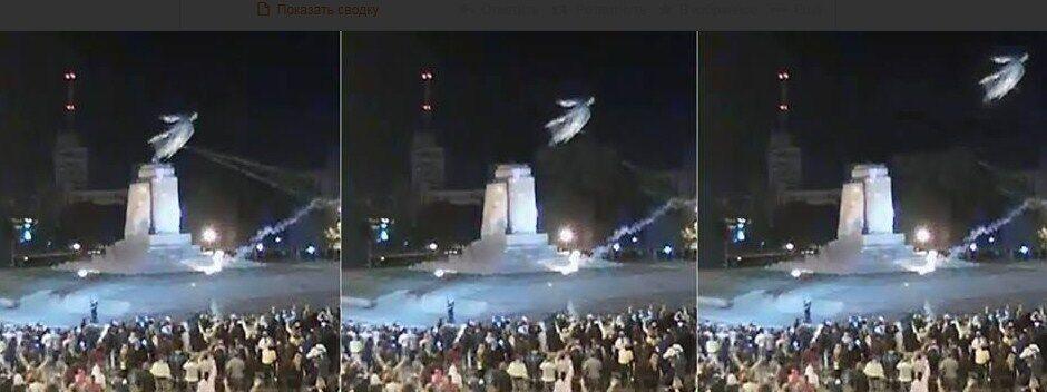 Опубликованы фото и видео сноса памятника Ленину в Харькове