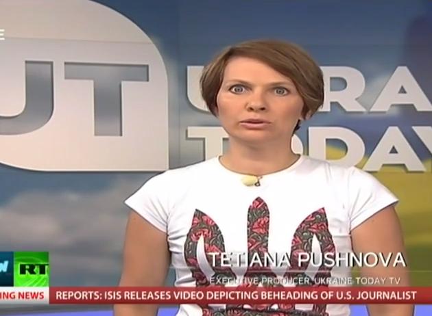 Коллектив Russia Today в прямом эфире попросили не врать об Украине