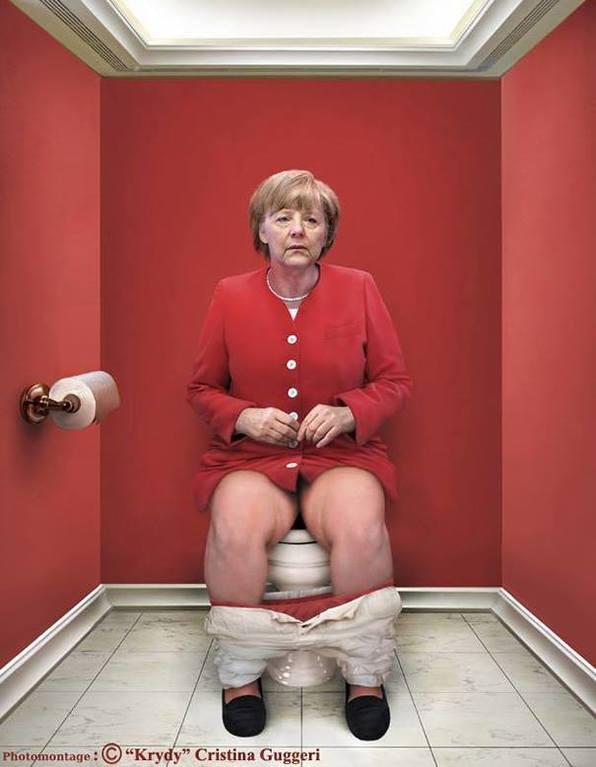 """Путина, Меркель и Обаму """"запечатлели"""" на унитазах: опубликованы фото"""