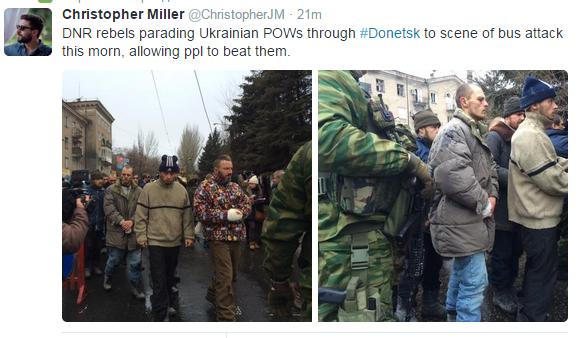 В Донецке террористы провели пленных по улицам города: опубликованы фото и видео