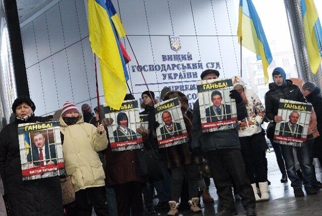 """Главе ВХСУ устроили """"коридор позора"""": опубликованы фото"""