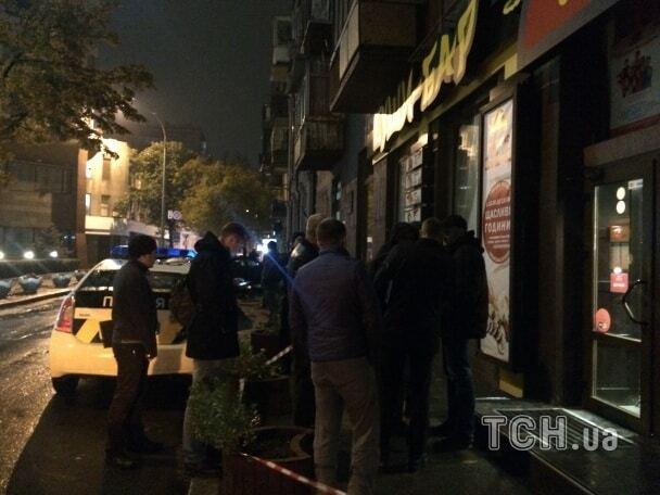 Стрілянина у Києві: опубліковані фото з місця злочину