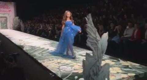 15-летняя красавица-дочь Маликова вышла на подиум в смелом платье