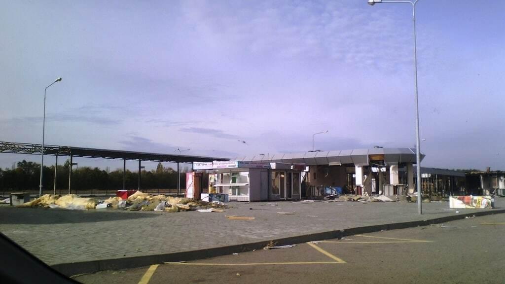 В сети показали, как выглядит разрушенный автовокзал в Донецке