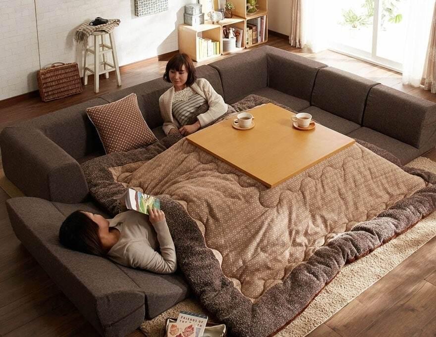 Это гениально: японская кровать спасает от самых сильных холодов