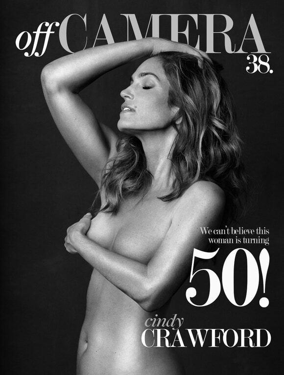 49-летняя Синди Кроуфорд поразила фотосессией топлесс
