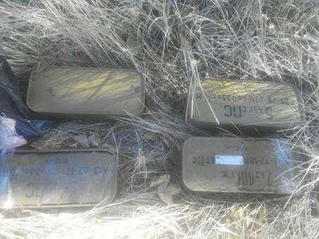 На Донбасі знайшли дві великі схованки зі зброєю: опубліковані фото