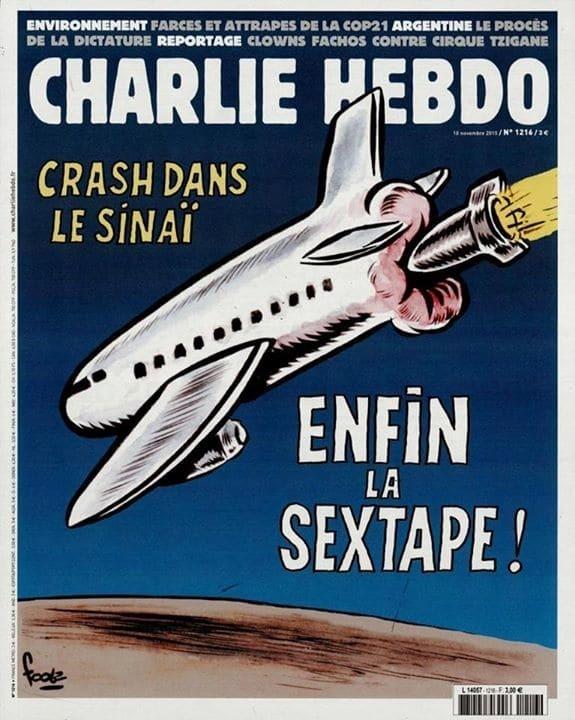 Charlie Hebdo опубликовал новую карикатуру на крушение A321