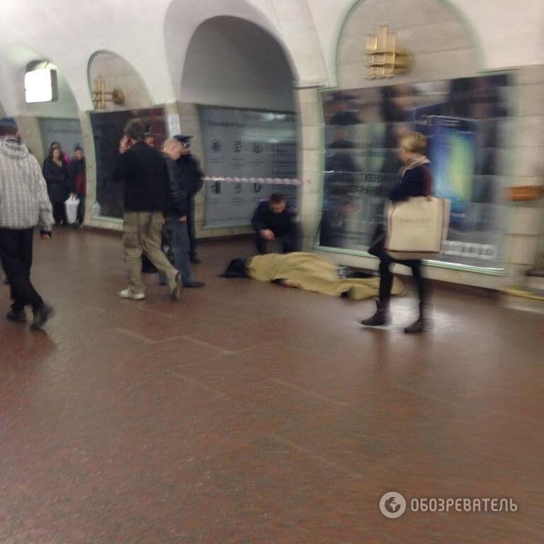 У Києві на станції метро помер чоловік
