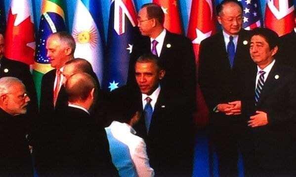 Обама пожал руку Путину на саммите G20