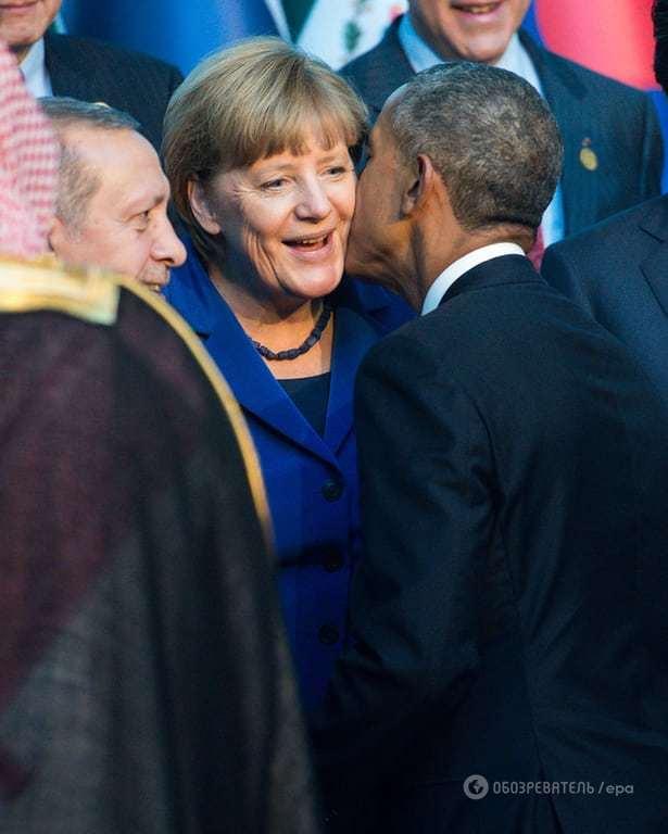 Менше політики: курйозні фото Путіна, Обами і Меркель із саміту G20 у Туреччині